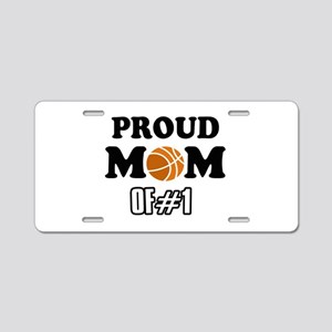 Cool Basketball Mom of number 1 Aluminum License P