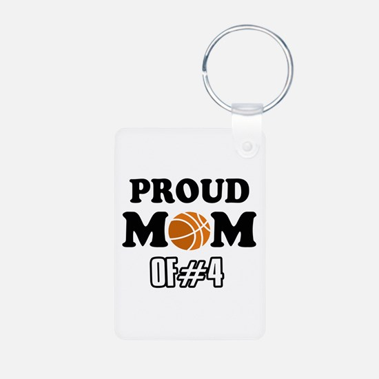 Cool Basketball Mom of number 4 Keychains