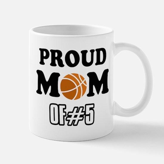 Cool Basketball Mom of number 5 Mug