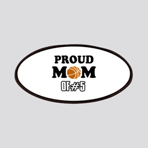Cool Basketball Mom of number 5 Patches