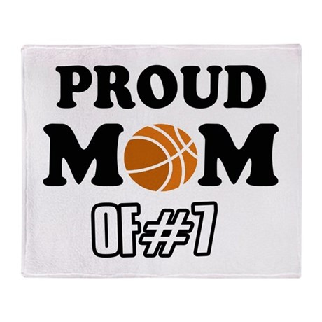Cool Basketball Mom of number 7 Throw Blanket