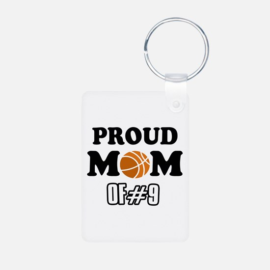 Cool Basketball Mom of number 9 Keychains