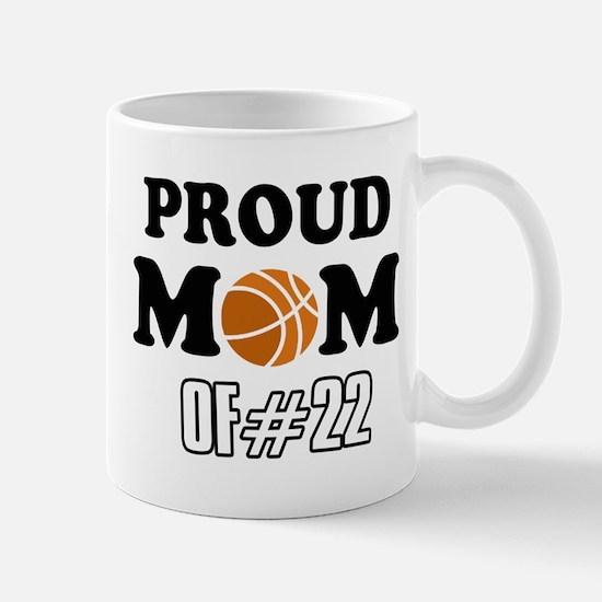 Cool Basketball Mom of number 22 Mug