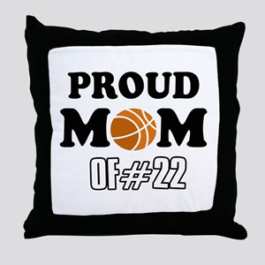 Cool Basketball Mom of number 22 Throw Pillow