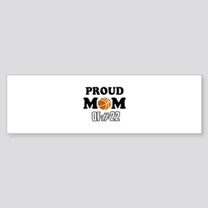 Cool Basketball Mom of number 22 Sticker (Bumper)