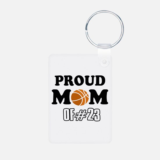 Cool Basketball Mom of number 23 Keychains