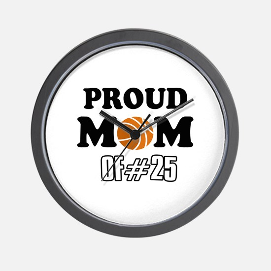 Cool Basketball Mom of number 25 Wall Clock
