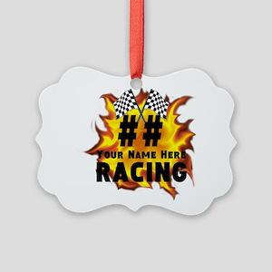 Flaming Racing Ornament