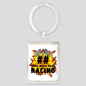 Flaming Racing Keychains
