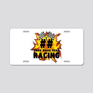 Flaming Racing Aluminum License Plate