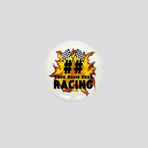 Flaming Racing Mini Button