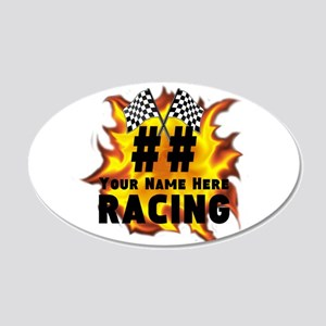 Flaming Racing Wall Decal