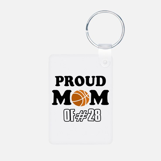 Cool Basketball Mom of number 28 Keychains