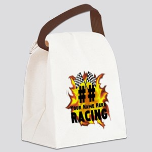 Flaming Racing Canvas Lunch Bag
