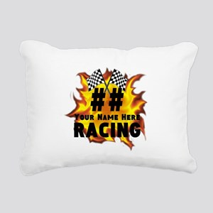 Flaming Racing Rectangular Canvas Pillow