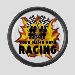 Flaming Racing Large Wall Clock