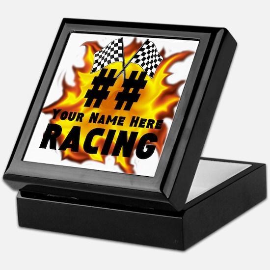 Flaming Racing Keepsake Box