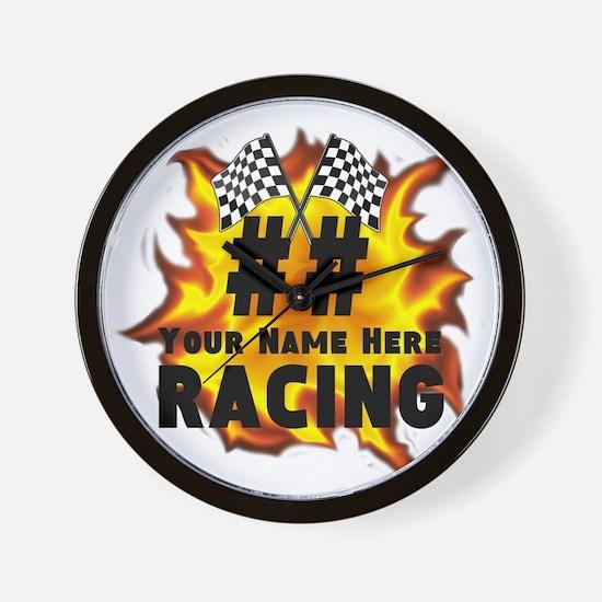 Flaming Racing Wall Clock
