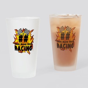 Flaming Racing Drinking Glass