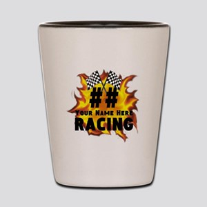 Flaming Racing Shot Glass