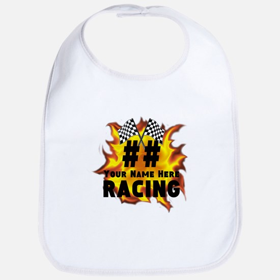 Flaming Racing Baby Bib