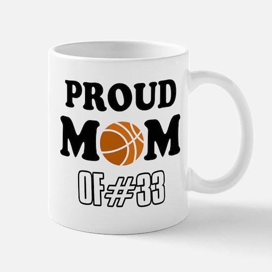 Cool Basketball Mom of number 33 Mug
