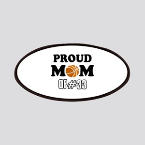 Cool Basketball Mom of number 33 Patches