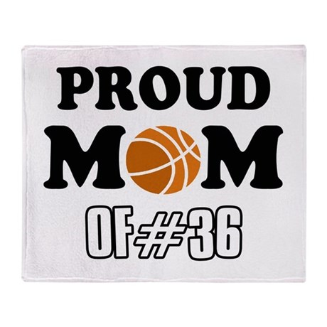 Cool Basketball Mom of number 36 Throw Blanket