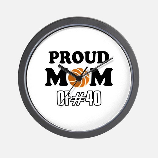 Cool Basketball Mom of number 40 Wall Clock
