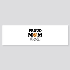 Cool Basketball Mom of number 40 Sticker (Bumper)