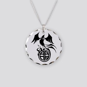 A.A.N.A. Phoenix B&W - Necklace Circle Charm