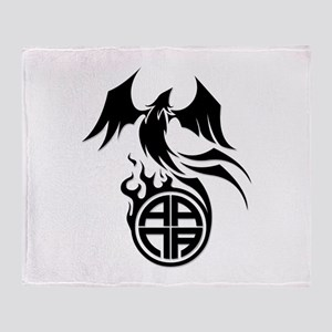 A.A.N.A. Phoenix B&W - Throw Blanket