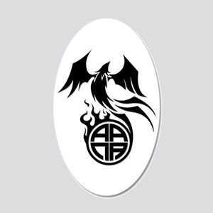 A.A.N.A. Phoenix B&W - 20x12 Oval Wall Decal
