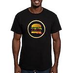 Skip A Meal Fatty Men's Fitted T-Shirt (dark)