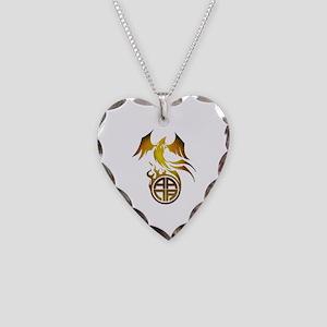A.A.N.A. Logo Phoenix - Necklace Heart Charm