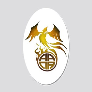 A.A.N.A. Logo Phoenix - 20x12 Oval Wall Decal