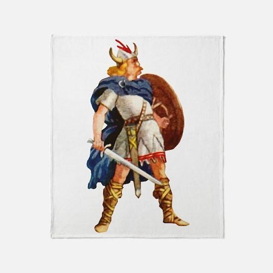 Scandinavian Viking Throw Blanket