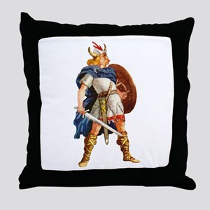 Scandinavian Viking Throw Pillow