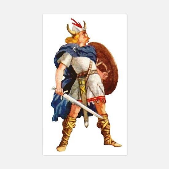 Scandinavian Viking Sticker (Rectangle)