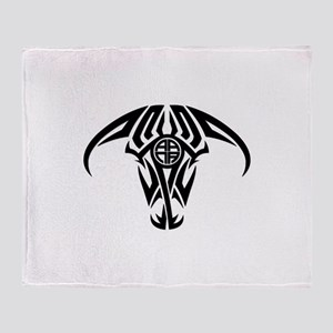 A.A.N.A. Logo Taurus B&W - Throw Blanket