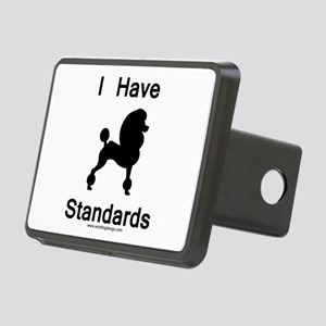 Poodle - I Have Standards Rectangular Hitch Cover