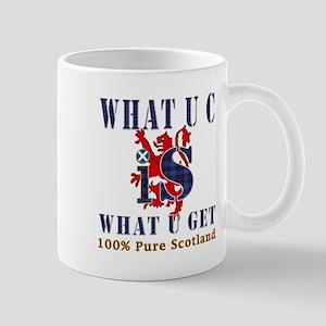 100 percent pure Scotland fun design Mug