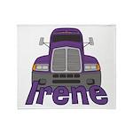 Trucker Irene Throw Blanket