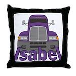 Trucker Isabel Throw Pillow