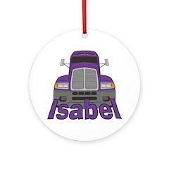 Trucker Isabel Ornament (Round)