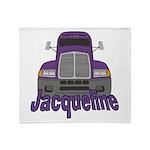 Trucker Jacqueline Throw Blanket