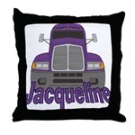 Trucker Jacqueline Throw Pillow