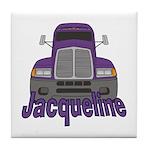 Trucker Jacqueline Tile Coaster