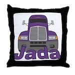 Trucker Jada Throw Pillow