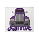 Trucker Jamie Throw Blanket